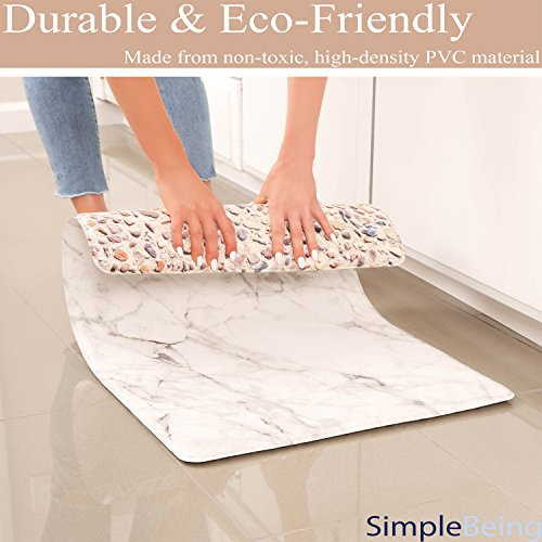 Simple Being Anti Fatigue Kitchen Floor Mat, Comfort Heavy Duty Standing Mats, Ergonomic Non-Toxic Waterproof PVC Non Slip Washable For Indoor Outdoor by Simple Being (Image #3)