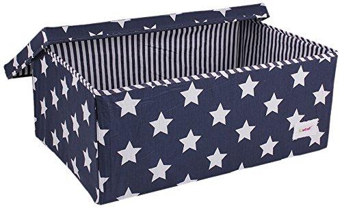 Attirant Minene Large Toy/Nursery Storage Box With Lid Blue Star: Amazon.co.uk: Baby