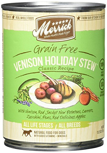 - Merrick Pet Care Venison Holiday  Stew, Can For Dog, 13.2, 12 Count