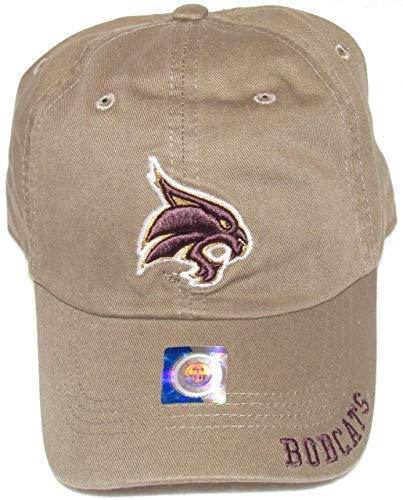 (Texas State Bobcats Khaki/Maroon Logo Relaxed Fit Cap Hat)