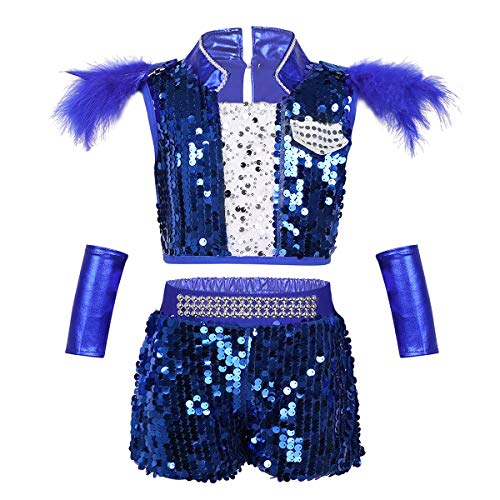 inlzdz Kids Girls Boys Sparkle Sequins Jazz