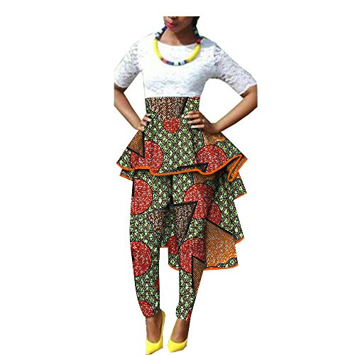 Private Customized African Skirt for Womens Print Dashiki Dress Skirt Ball Gown Pants 322 XS ()