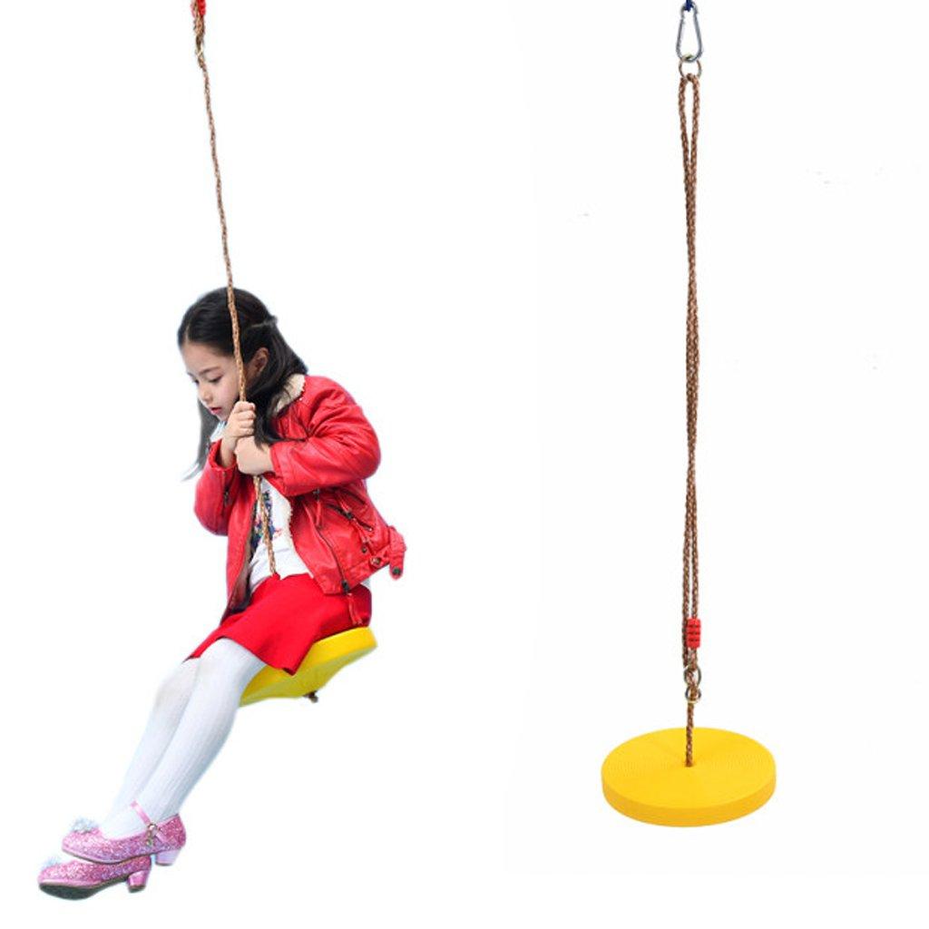 Rojo KESOTO Escalera de Cuerda con Asiento Redondo de Columpio Colgante Juego de Interior y al Aire Libre para Ni/ños