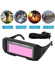 VidaLifeXs Gafas de Soldadura, Gafas de oscurecimiento automático, Oscuridad automática, Gafas de Soldadura Protectoras Casco TIG MIG.