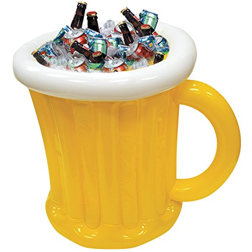 Inflatable Beer Mug Cooler for Outdoor Backyard BBQ Pool Party ()