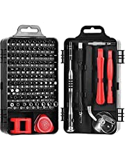 Womdee Precision Screwdriver Set, 110 in 1 Magnetic Precision Screwdriver Set Repair Tool Kit for iPhone Series/Mac/iPad/Xbox Series/PS3/PS4/Nintendo Switch/Eyeglasses/Watch,Cellphone/PC/Electroni