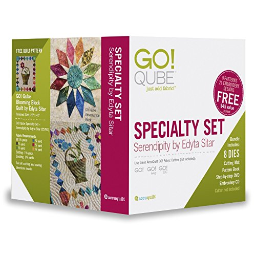 AccuQuilt GO! Qube Serendipity by Edyta Sitar Specialty Die Set 55783 by AccuQuilt