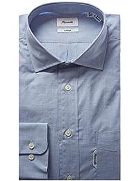 Faconnable Mens Dress Shirt, 44/45, Blue
