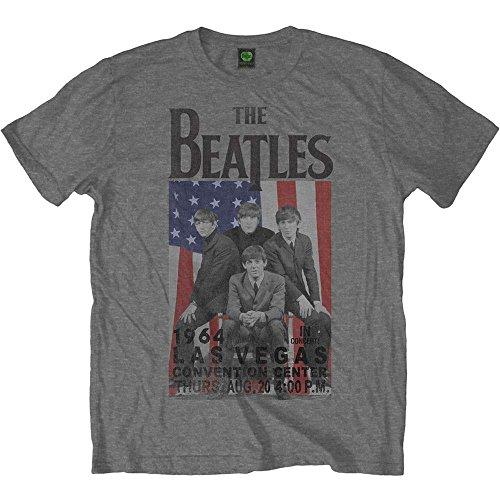 The Beatles T-Shirt - Mens Gray Las Vegas 1964 Concert Tee - Las Clothes Mens Vegas