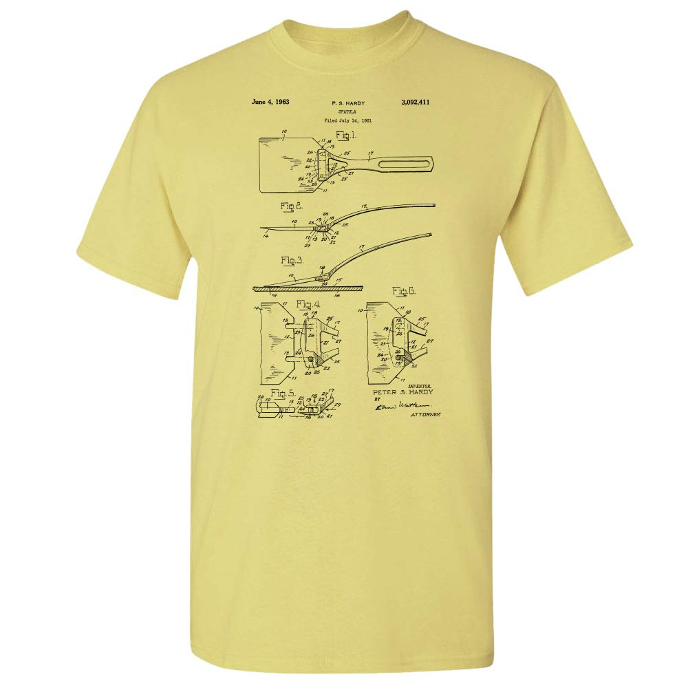 Spatula T-Shirt, Grill Cook, Cooking Gift, Chef Gifts, Grilling Gift Cornsilk (Medium) by Patent Earth