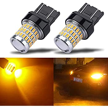 JDM ASTAR 2Pcs Amber Yellow 7443 7440 1500LM 14-SMD LED Turn Signal Light Bulbs