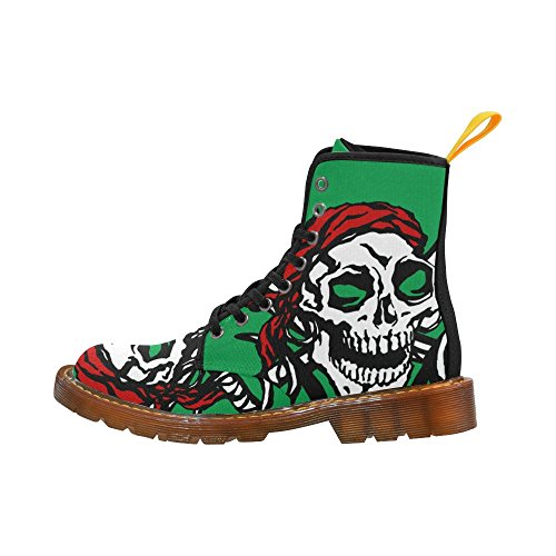 Leinterest Skull Flag Martin Boots Fashion Shoes Voor Dames