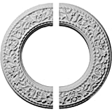 Ekena Millwork CM13BL2 13 3/8''OD x 7 1/2''ID x 3/4''P Blackthorn Ceiling Medallion, Fits Canopies up to 7-1/2'', 2 Piece