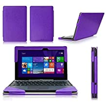 ASUS Transformer Book T100 CaseCover, FYY® Fully Armed Leather Case for ASUS Transformer Book T100 Purple