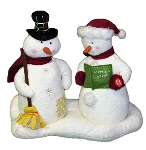 (Hallmark Mr and Mrs Snowman Jingle Pals Plush Singing Holiday Display Figures 2003)