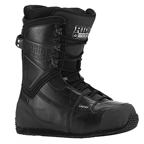 Ride Snowboard Boots Lace - Ride Men's Bigfoot Snowboard Boots 2016 (Black, 19)