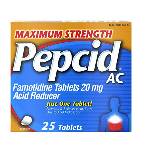 (Maximum Strength Pepcid (famotidine) AC All-Day Heartburn Relief Medicine, 25 count)
