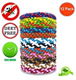 12Pack Mosquito Repellent Bracelet - Natural for Adults and Kids, Waterproof Wristbands, Indoor and Outdoor Protection , Multicolor