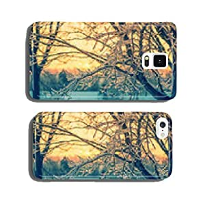Ice Crystal Branches in the Glow of a Sunset - Retro cell phone cover case iPhone6 Plus