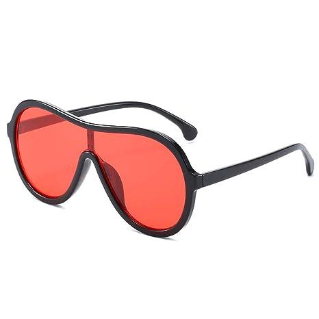 Yangjing-hl Gafas de Sol de una Pieza Tendencia Big Box ...