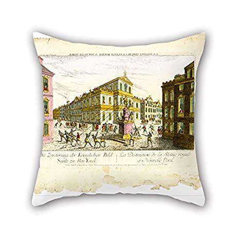 Amazon the oil painting balthasar friedrich leizelt the oil painting balthasar friedrich leizelt destruction of the royal statue in new york pillowcase junglespirit Images