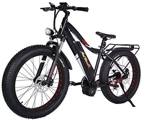 Addmotor MOTAN Electric Bikes Snow Beach Fat Ebikes 26Inch Electric Bicycles Bafang 48V1000W Middle Hub Brushless Motor 17.5AH Lithium Battery Electric Fat Bikes M-5800 E-bike (Black/Red) For Sale