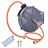 GreenWise ® Auto Rewind Water Hose Reel W/Removable Stand 33Ft by 3/8-Inch I.D