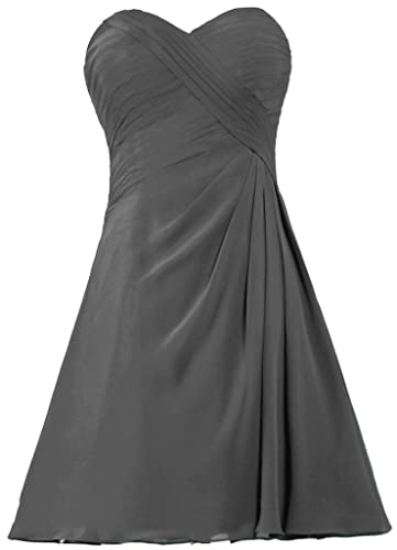 ANTS Women's Simple Short Bridesmaid Dress Chiffon Homecoming Dresses