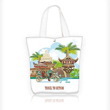 e0dfff8a9eab Amazon.com: canvas tote bag vietnam traditional vietnamese cultural ...