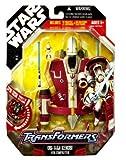 Star Wars 30th Anniversary Saga 2008 Transformers Action Figure Obi-Wan Kenobi to Jedi Starfighter [Red & White]