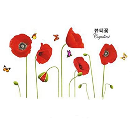 Flowers Butterfly Wall Stickers Cartoon Animals Photo Frames