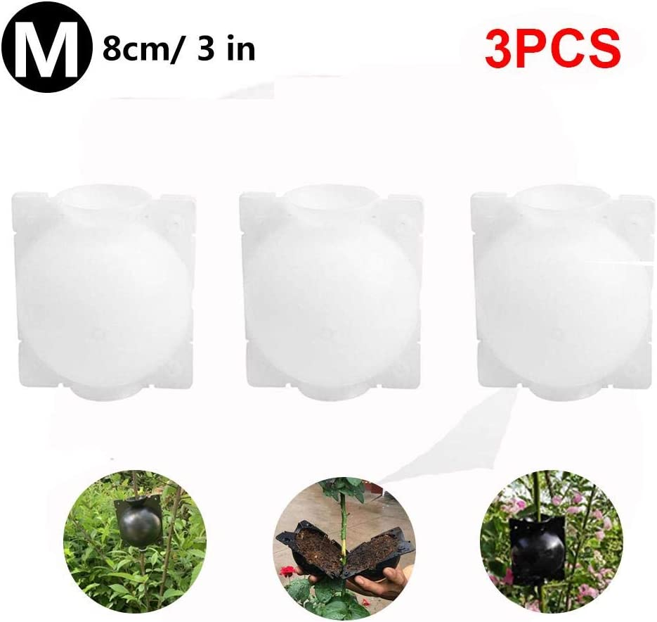 N/Z 3PCS Plant Rooting Grow Box Reusable Plant Rooting Device High Pressure Propagation Ball Plant Rooter Box Reproduction Equipment,Grafting Plant Propagator for Indoor Outdoor Plants