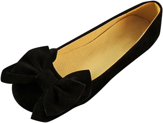 Frestepvie Damen Ballerinas Weich Flache Damenschuhe Mit Großer Schleife Faschion Frauen Elegant Schuhe Flandell Ballerinas Freizeit Casual Mokassins