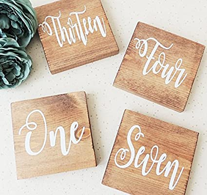 Amazon Onepicebest Wedding Table Numbers Rustic Wedding Decor