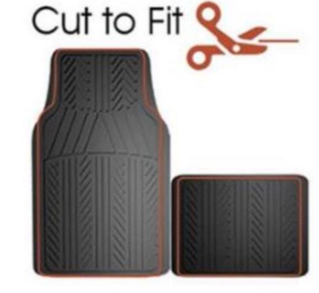 Custom Accessories Armor All 78912 4-Piece Grey Basic Rubber Floor Mat