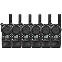 6 Pack of Motorola CLS1110 Two-way Radios with Programming Video