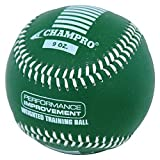 CHAMPRO SPORTS Training Baseball, Weighted 9oz Green Leather Ball CBB709