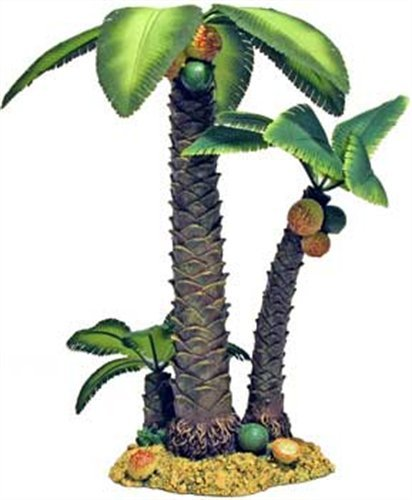 Exotic Environments Palm Tree Island Aquarium Ornament, Large, 10-Inch by 7-1/2-Inch by 12-1/2-Inch by Blue Ribbon