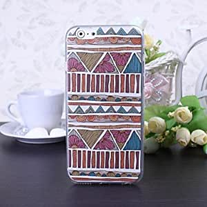 National Style Abstract Geometric B Pattern TPU Soft Case for iPhone 6