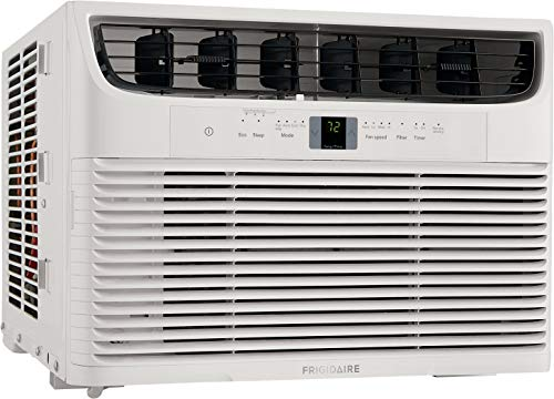 - Frigidaire 10,000 BTU 115V Window-Mounted Compact Air Conditioner with Remote Control, White