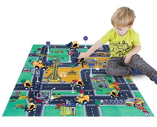 CHICKEN TOYS Construction-Engineering-Vehicles-Play Mat