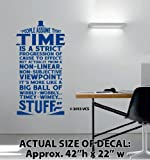 "XTRA-LARGE - ""Time Is Wibbly Wobbly, Timey Wimey Stuff"" Wall Décor Sticker Vinyl Decal - Doctor Who Quote - Tardis"