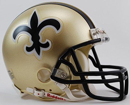 New Orleans Saints 1976-99 Throwback Replica Mini Helmet w/ Z2B Face Mask ()