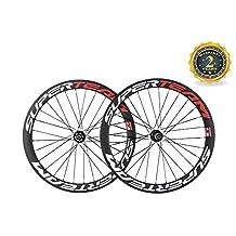 Superteam Carbon Road Bike Wheelset 50mm 700c Clincher Wheel with Disc Brake Hub