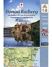 Eurovelo 6 Danube: Budapest - Black Sea pack of maps huber