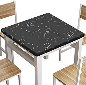 oobon Print Fabric TableCloths, Flat line Apple Pattern vectorOutdoor Table Cover Square Tables Home Indoor, 60x60 inch