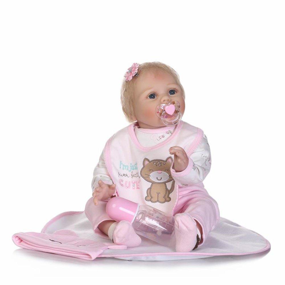 bienvenido a elegir Barato Decdeal NPK Muñeco Renacer Reborn Bebé, Bebé, Bebé, 22 Pulgadas (Ropa Rosa, Pelo Rubio)  en venta en línea