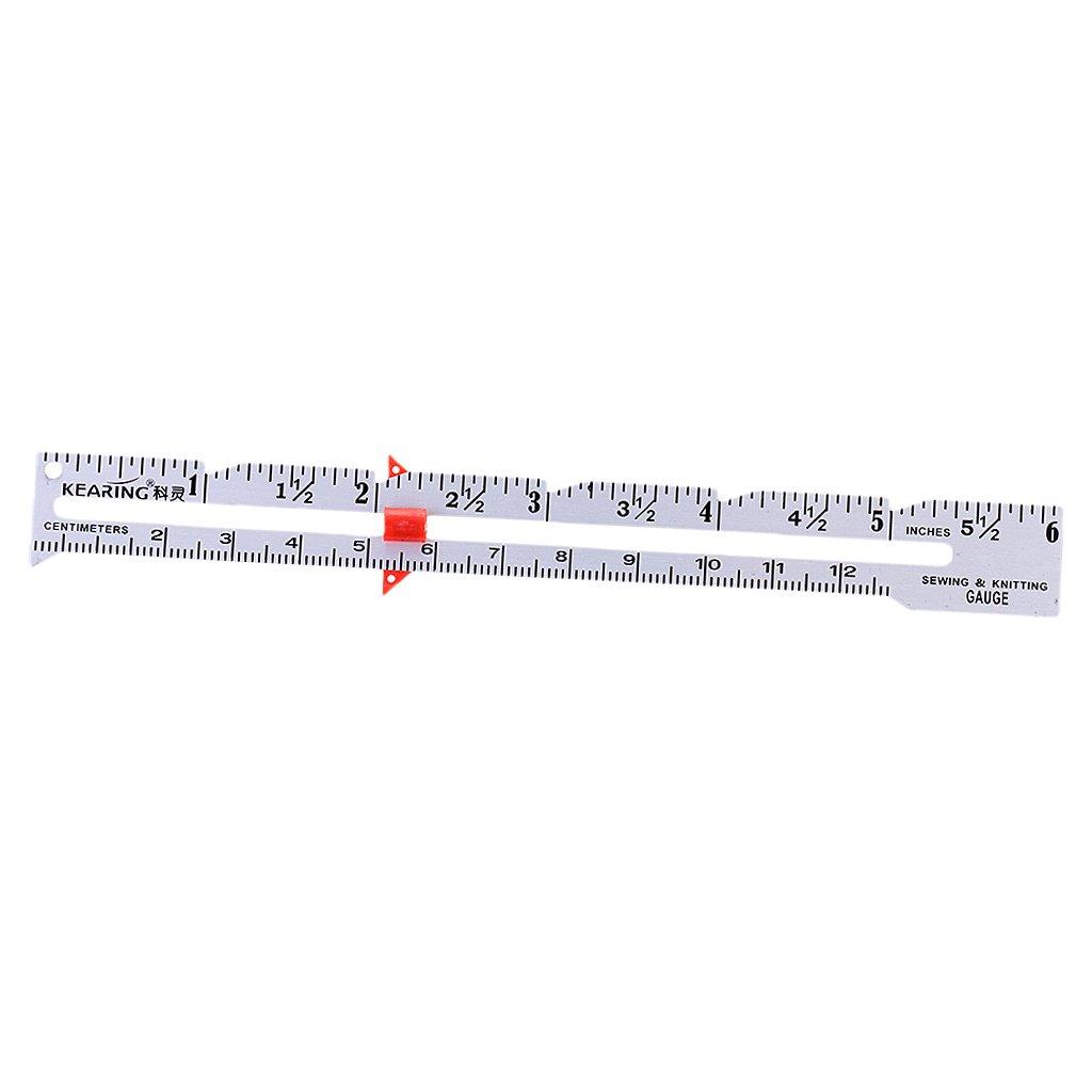 Calibre De Costura Accesorios Herramienta De Medición Regla De Costura De Costura 15cm Negro product image