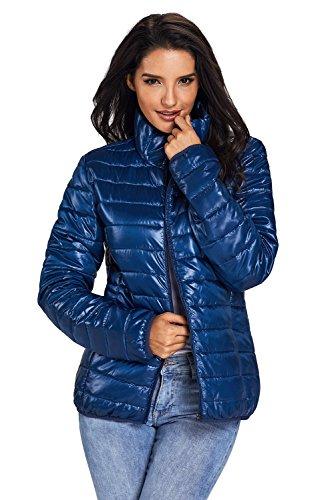 Chaqueta de algodón acolchada BaronHong de cuello alto Azul