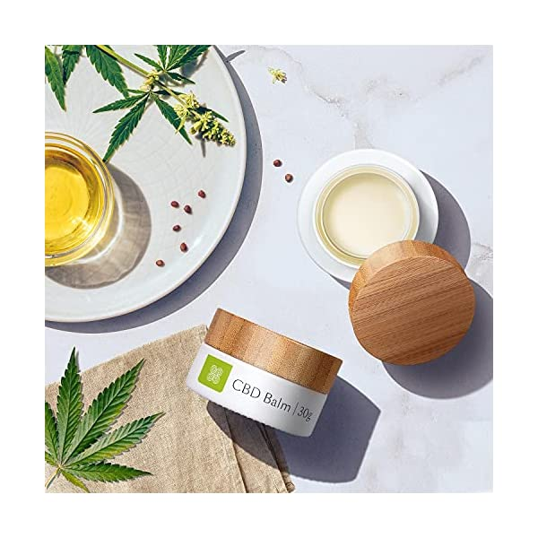 Healthspan CBD Balm 30g infused with 180mg cannabidiol essential oils, Cream, Aromatic chamomile and relaxing lavender, 30 gram